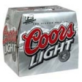 COORS LIGHT 12 PK BOTTLES