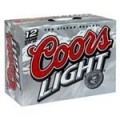 COORS LIGHT 12 PK CAN